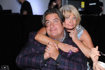 Matt Preston and Paula Duncan hamming it up