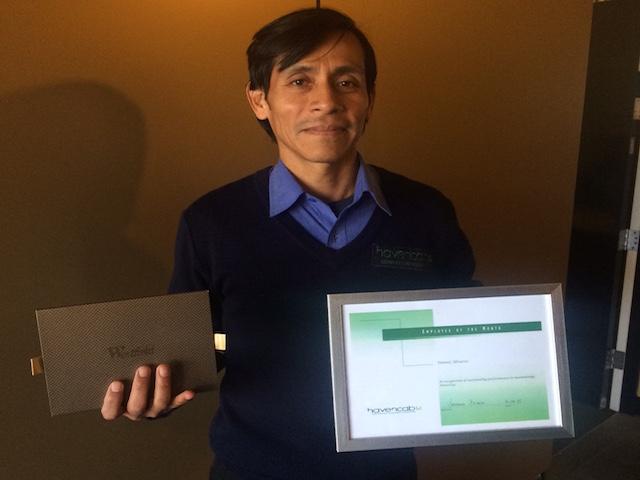 Employee of the Month Daniel Avarez