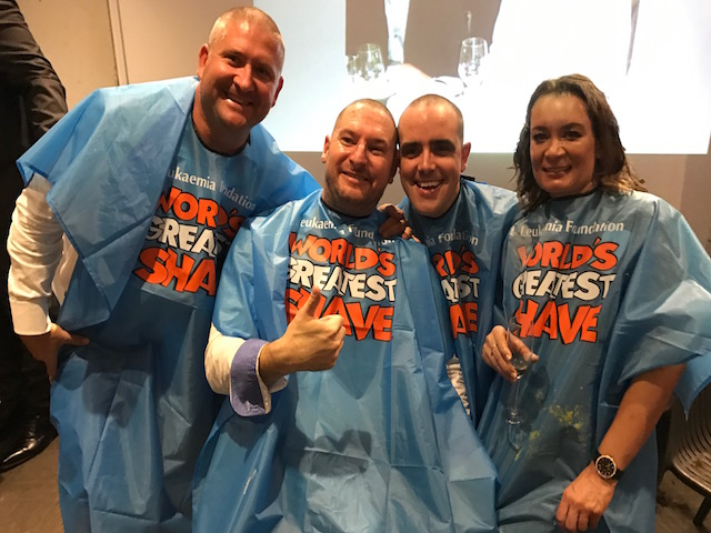 Havencab CEO Frank Boross and friends shave or dye their hair to raise money for leukaemia research