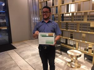 Havencab Employee of the Month Jorge Andres Barbosa Yara EOM April 2018