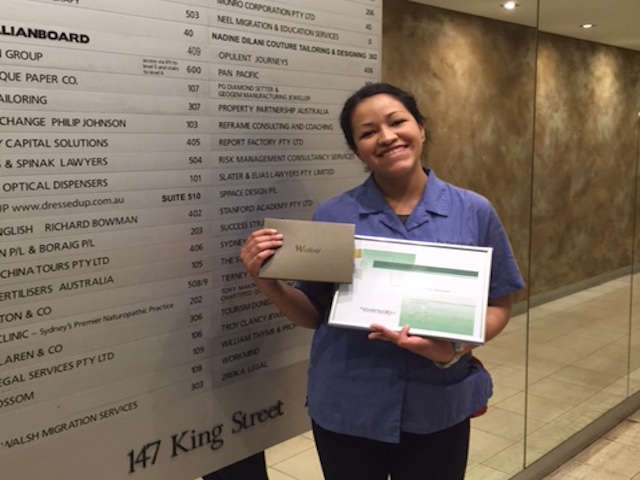 Havencab Employee of Month July Diana Almendrales