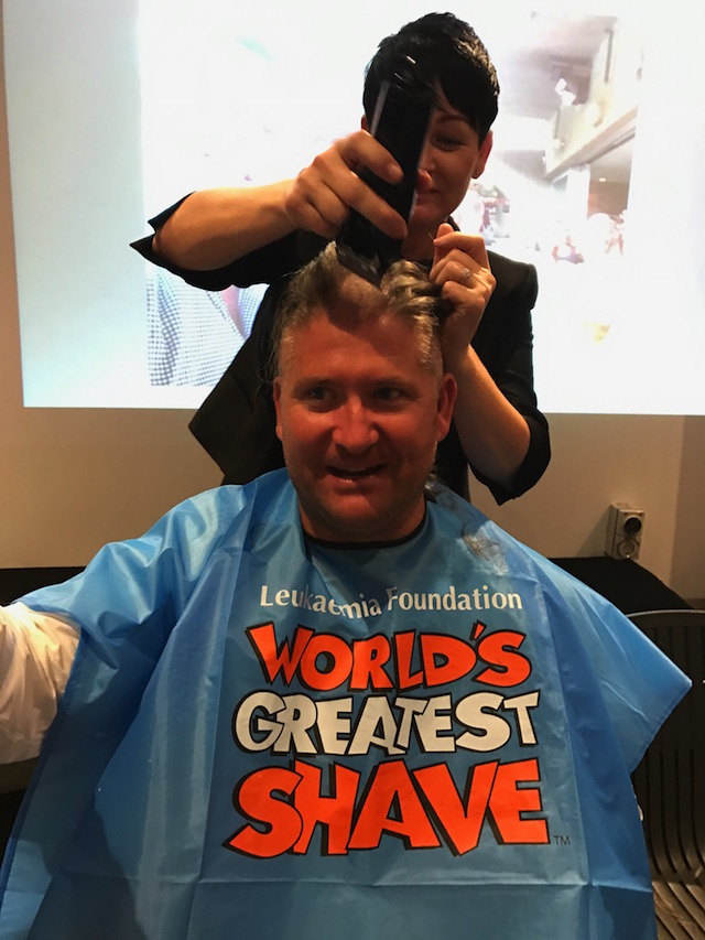 Havencab CEO Frank Boross giving up his hair to raise money for leukaemia research