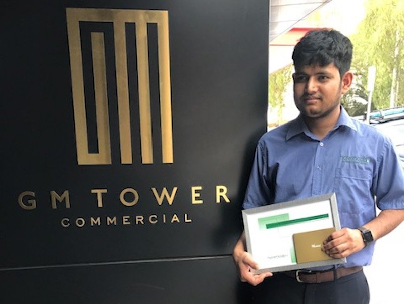 Havencab Employee of the Month Abhishesh